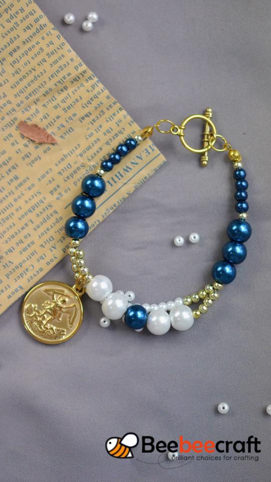 #Beebeecraft Tutoriales sobre cómo hacer un colgante #bracelet con #pearlbeads.