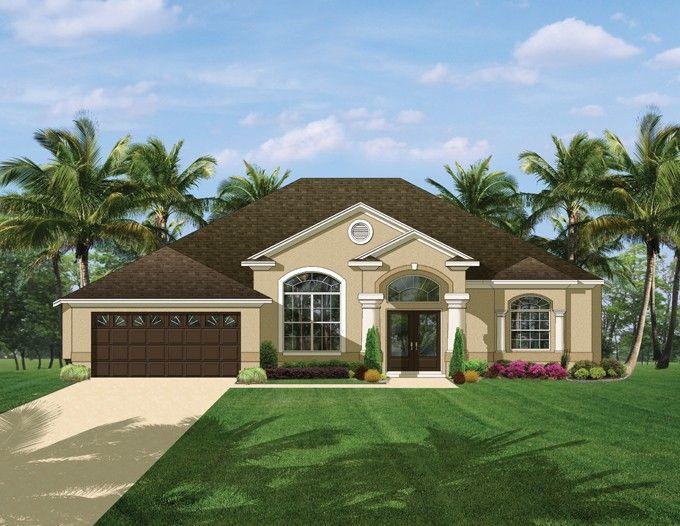 Eplans Mediterranean Modern House Plan Comfortable Open Mediterranean 2161 Square Feet And 3 Mediterranean Style House Plans House Plans Florida House Plans