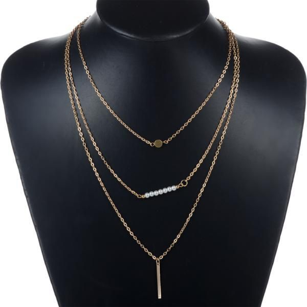 Aliexpress buy trendy hamsa hand gold multi layers chains aliexpress buy trendy hamsa hand gold multi layers chains necklace women turqoise hamsa aloadofball Image collections