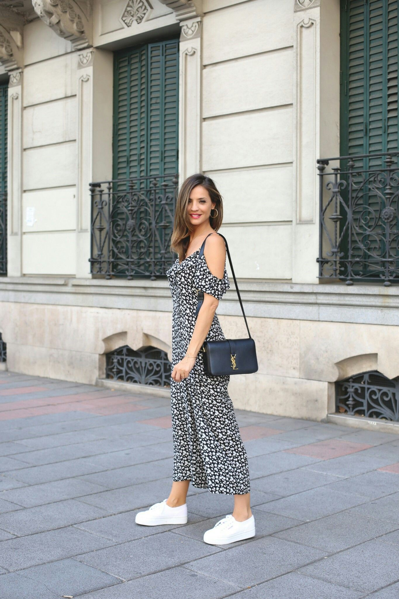 Vestidos largos para usar con zapatillas