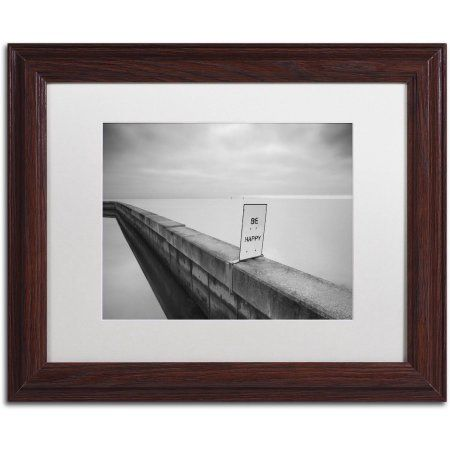 Trademark Fine Art Be Happy Canvas Art by Moises Levy White Matte ...