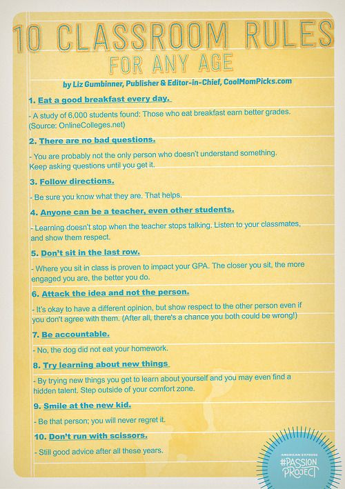 10 classroom rules for kids of any age  we especially love