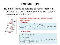 Resultado de imagem para volume de piramide quadrangular