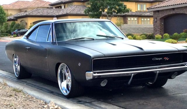 stunning 1968 dodge charger r t 440 restored matte black 20 wheels fast furious classic dodge charger 19 dodge charger dodge muscle cars classic cars muscle dodge charger dodge muscle cars