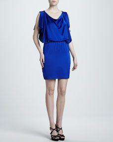 Open-Back Satin Dress