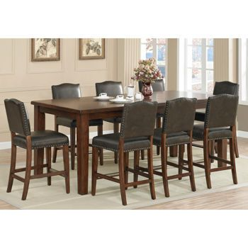 Rochester 9 Piece Counter Height Dining Set Dining Table In Kitchen Dining Table Rectangle Dining Set