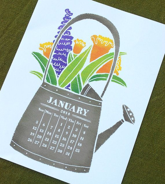 GARDEN Printable Desk Calendar 2020 2021 Instant Download ...