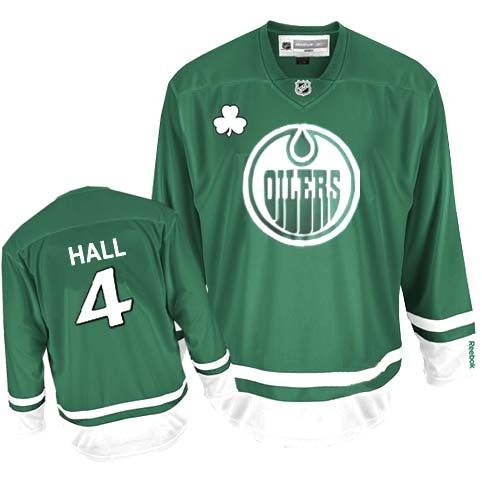 Edmonton Oilers Taylor Hall 4 Green Authentic Jersey Sale