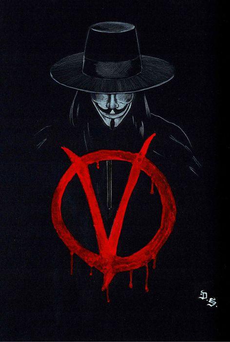 8d9a168bf7 Diego Septiembre - Original Drawing - V For Vendetta - W.B. Cartaz De Filme