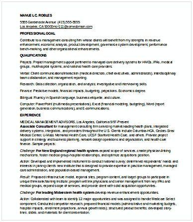 Entry Level Management Consulting Resume  Management Consulting
