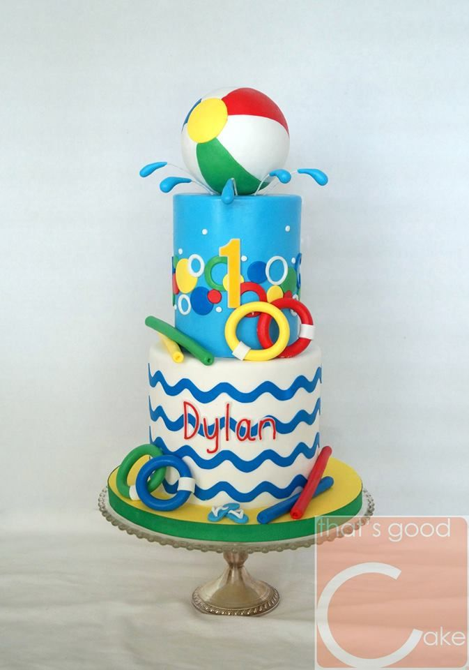 Brilliant Swimming Pool Party Pool Party Cakes Pool Birthday Party Kids Funny Birthday Cards Online Inifodamsfinfo