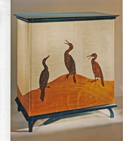 Lauughing Cormerant Cabinet -Judith Ames