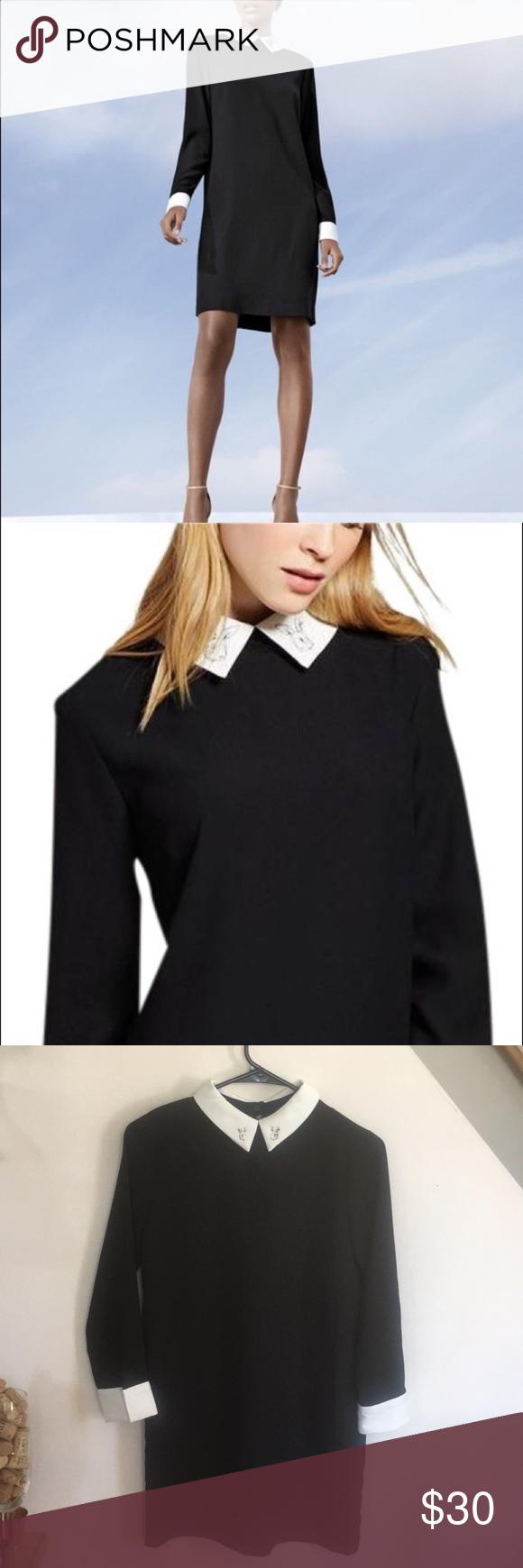 Victoria Beckham Bunny Collar Dress Cute Black Dress Collar Dress Clothes Design [ 1740 x 580 Pixel ]