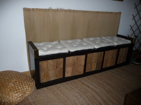 expedit shelf lack legs glued to sides baskets for cubbies and cushions for seats i saw on. Black Bedroom Furniture Sets. Home Design Ideas