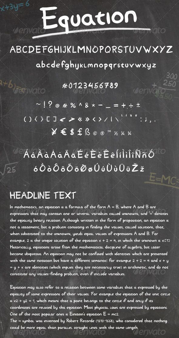 Equation Math logo, Cool fonts, Business card logo