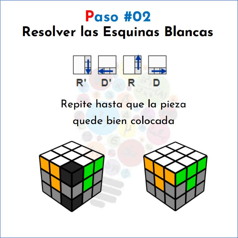 Cómo Resolver Un Cubo Rubik Mates Fáciles Resolver Cubo De Rubik Cubo Rubik Armar Cubo Rubik