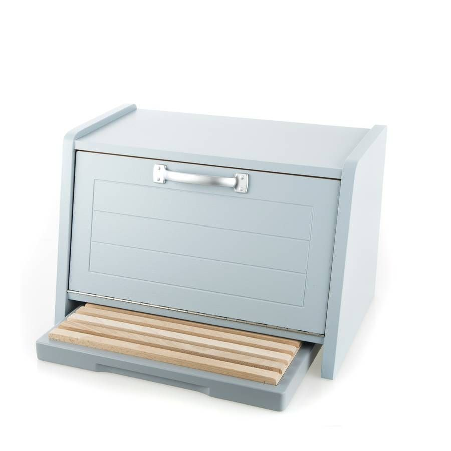 Tin bread box drawer insert - Painted Bread Bin And Bread Board Set