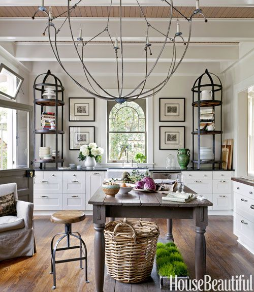 The Grand Scale Of The Chandelier And Of The Antique étagères Creates Drama  In Mary Jo Bochneru0027s Savannah, Georgia, Kitchen. Click Through For More Of  The ...