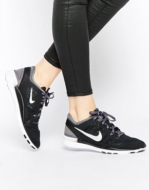 Find this Pin and more on Nike Gear Baby!. Shop Nike Free TR Fit 5 Black  Trainers ...
