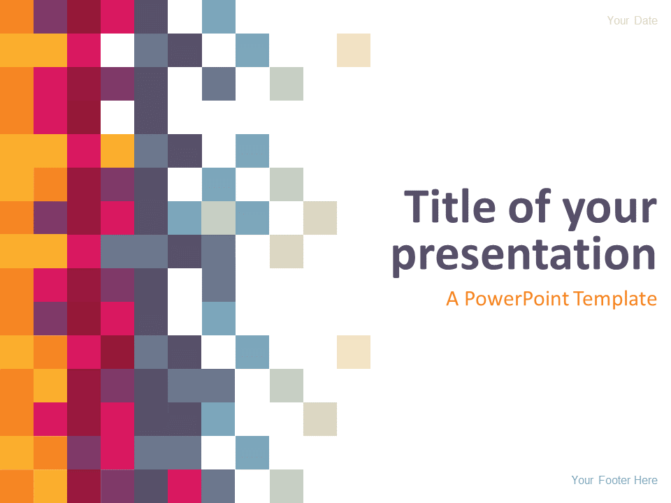Pixel Powerpoint Template Presentationgo Abstract Powerpoint