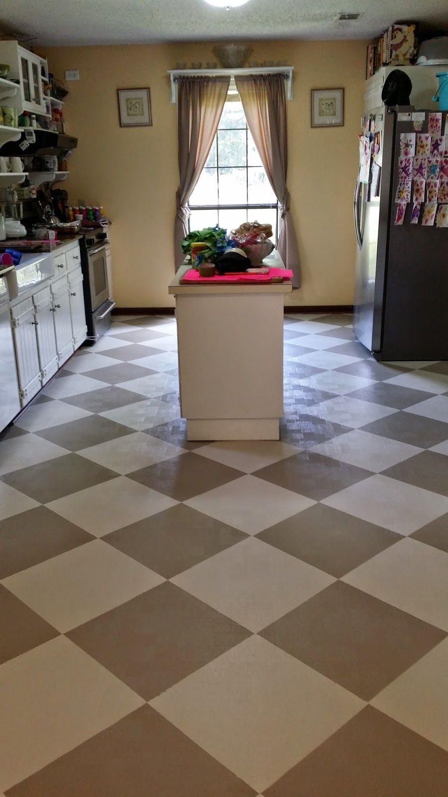 how i painted my linoleum floors  linoleum flooring