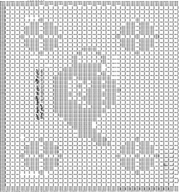 Diagrama tetera para tejer delantal ganchillo filet | Puntadas ...