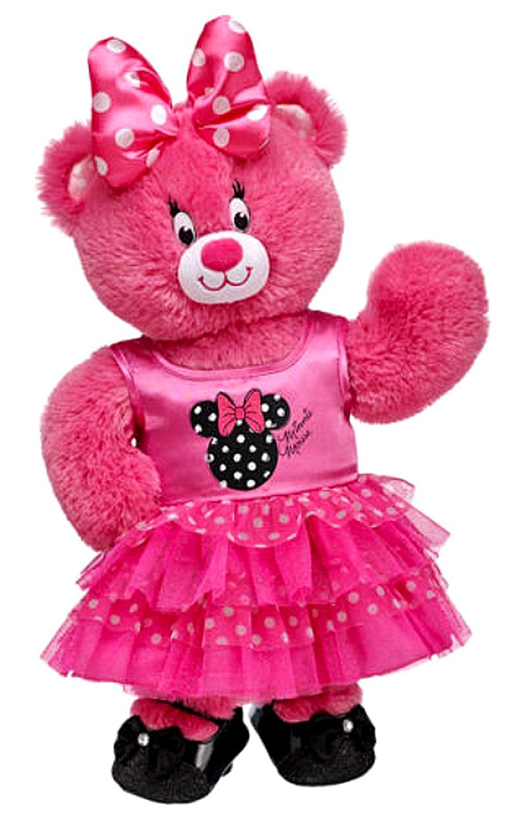 """Build A Bear Barbie Pink Bear 16/"""" inches NEW"""