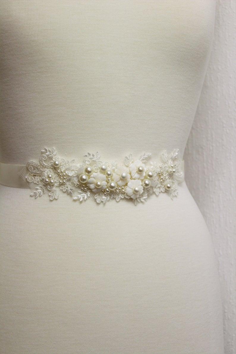Ivory Bridal Sash Wedding Dress Belt Wedding Sash Wedding Etsy In 2020 Wedding Dress Belt Ivory Bridal Bridal Sash