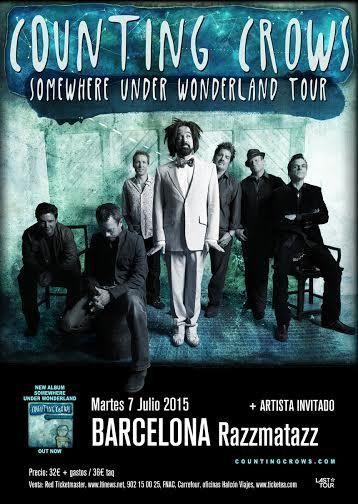 entradas para COUNTING CROWS + Artista Invitado en Barcelona, Martes, 7 de Julio de 2015 a las 20:00 h |ticketea