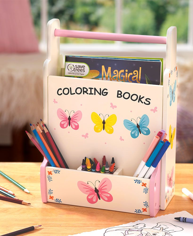 Coloring Book And Crayon Caddies Coloring Books Coloring Supplies Book Crafts