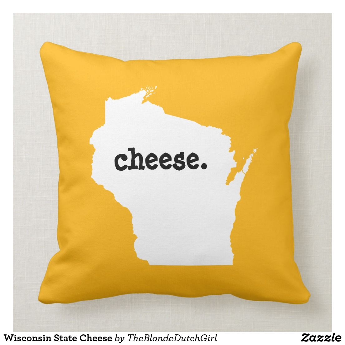 Wisconsin State Cheese Throw Pillow