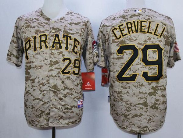 purchase cheap c2f04 a70bb Men's Pittsburgh Pirates #29 Francisco Cervelli Alternate ...
