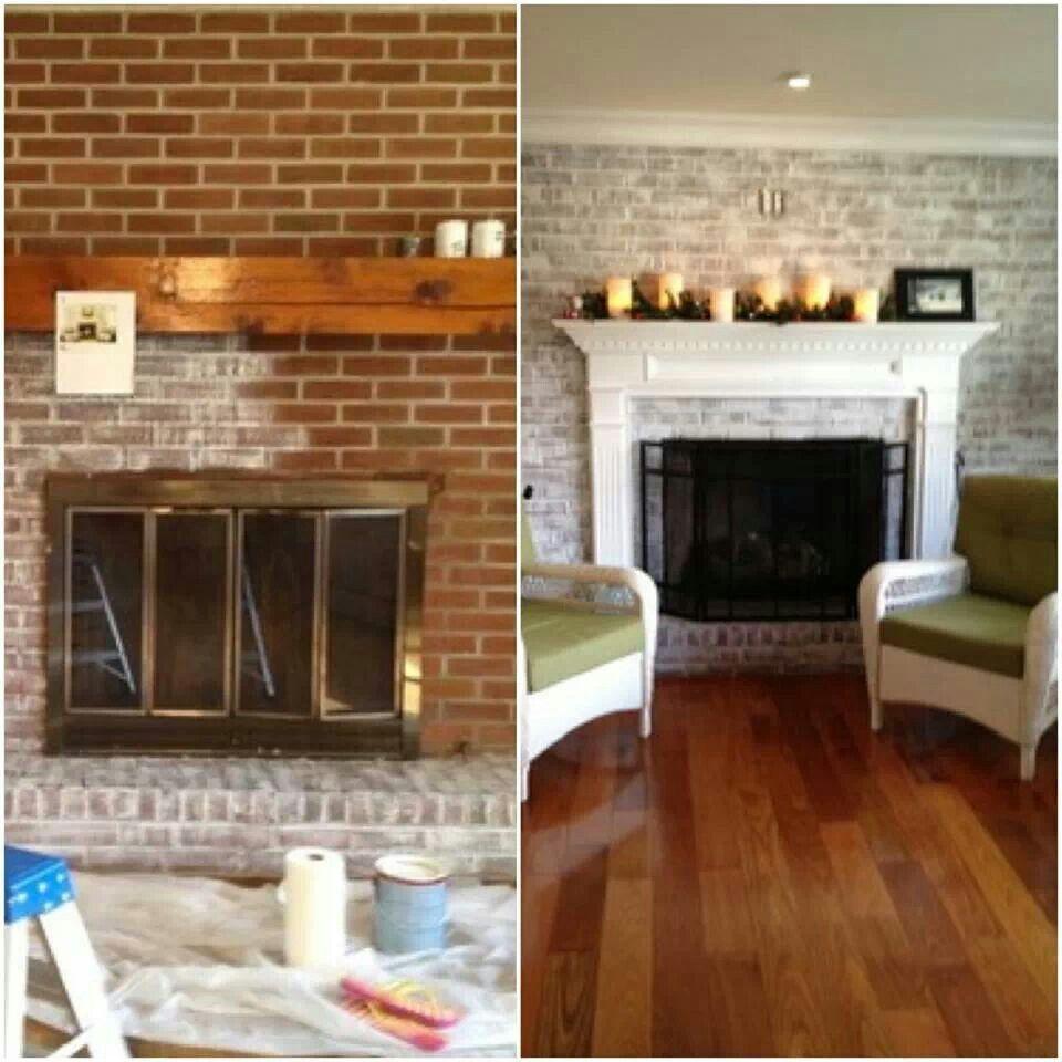Best 25 fireplace remodel ideas on pinterest fireplace - Red brick fireplace makeover ideas ...