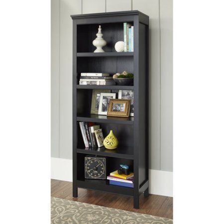 10 Spring Street Burlington Collection 5 Shelf Bookcase Multiple Colors Black 5 Shelf Bookcase