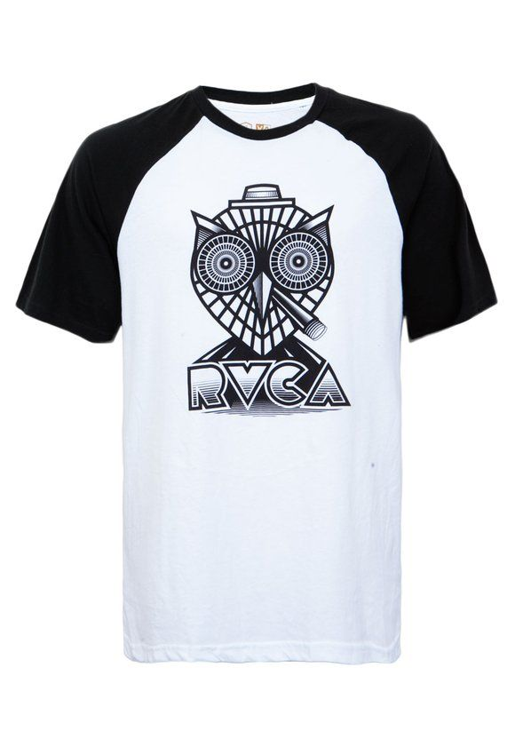 3bce1ceec48dd Camiseta RVCA Owl Branca
