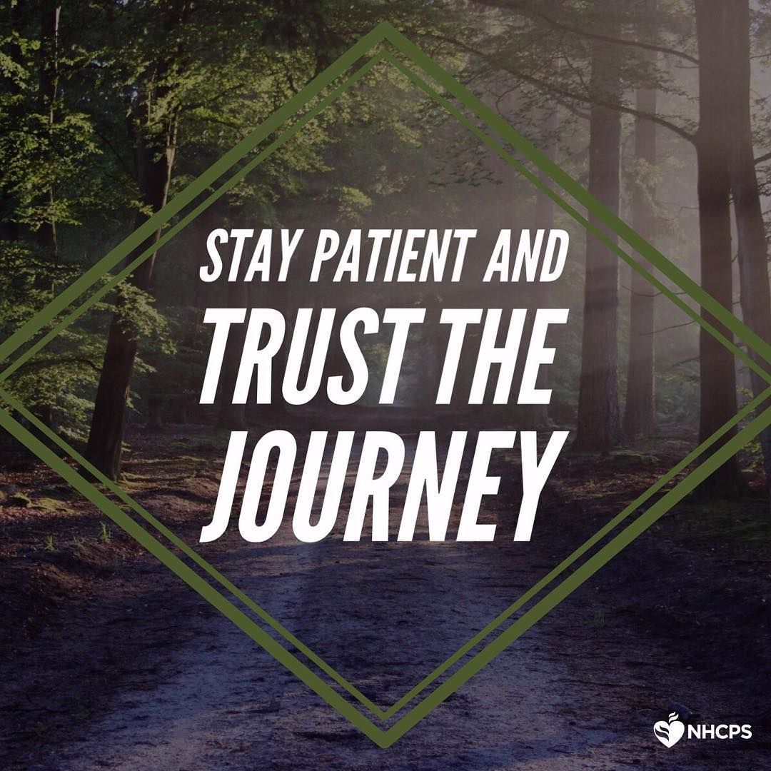 Stay patient and trust the journey! Healthcare providers