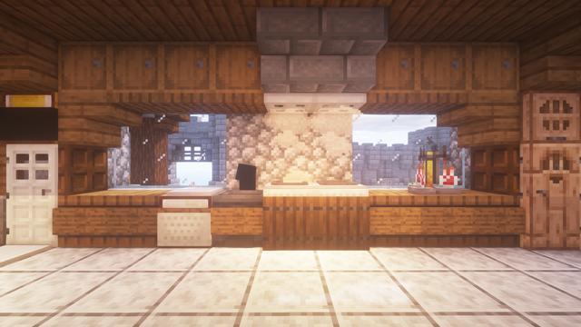 Nice Modern Kitchen Design Made In Survival Detailcraft Minecraft Modern Minecraft House Designs Minecraft Interior Design