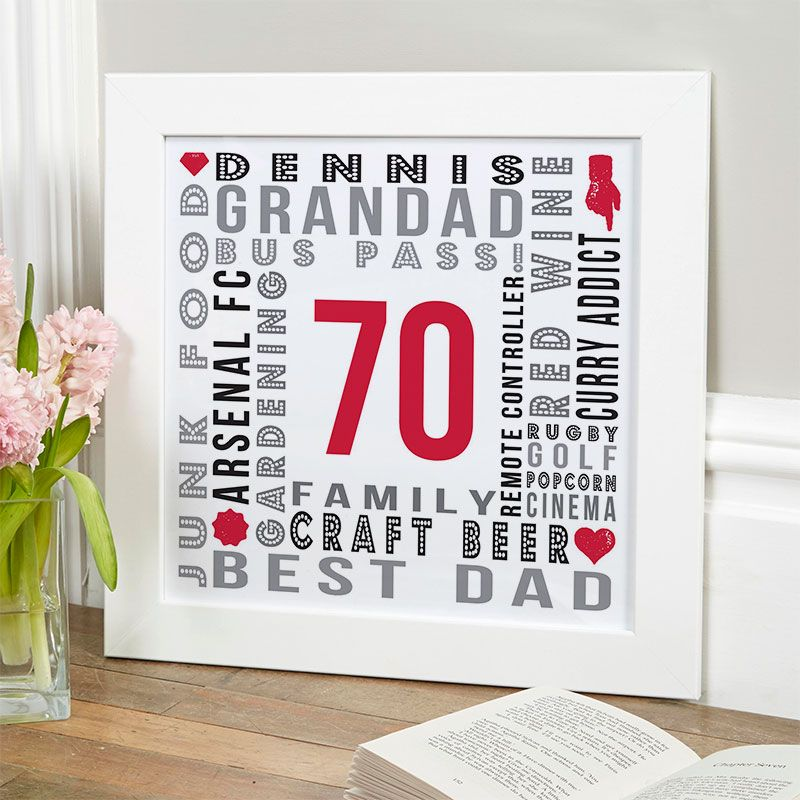 70th birthday gifts present ideas for men chatterbox