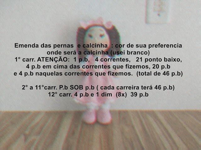 Bonecas de Croche Lu Boneca Lulu Croche Amigurumi   Elo7   480x640