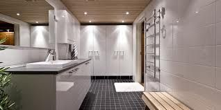 Alakerran kylppäri-saunaan tulee tumma lattia, valkoiset seinät ja tumma katto...ehkä.