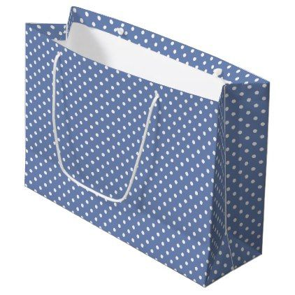 Polka dots large gift bag - craft supplies diy custom design supply special