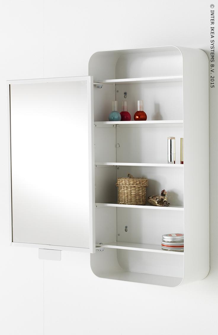 GUNNERN Meuble à miroir 1 porte Blanc 31 x 62 cm   Pinterest   Ikea ...