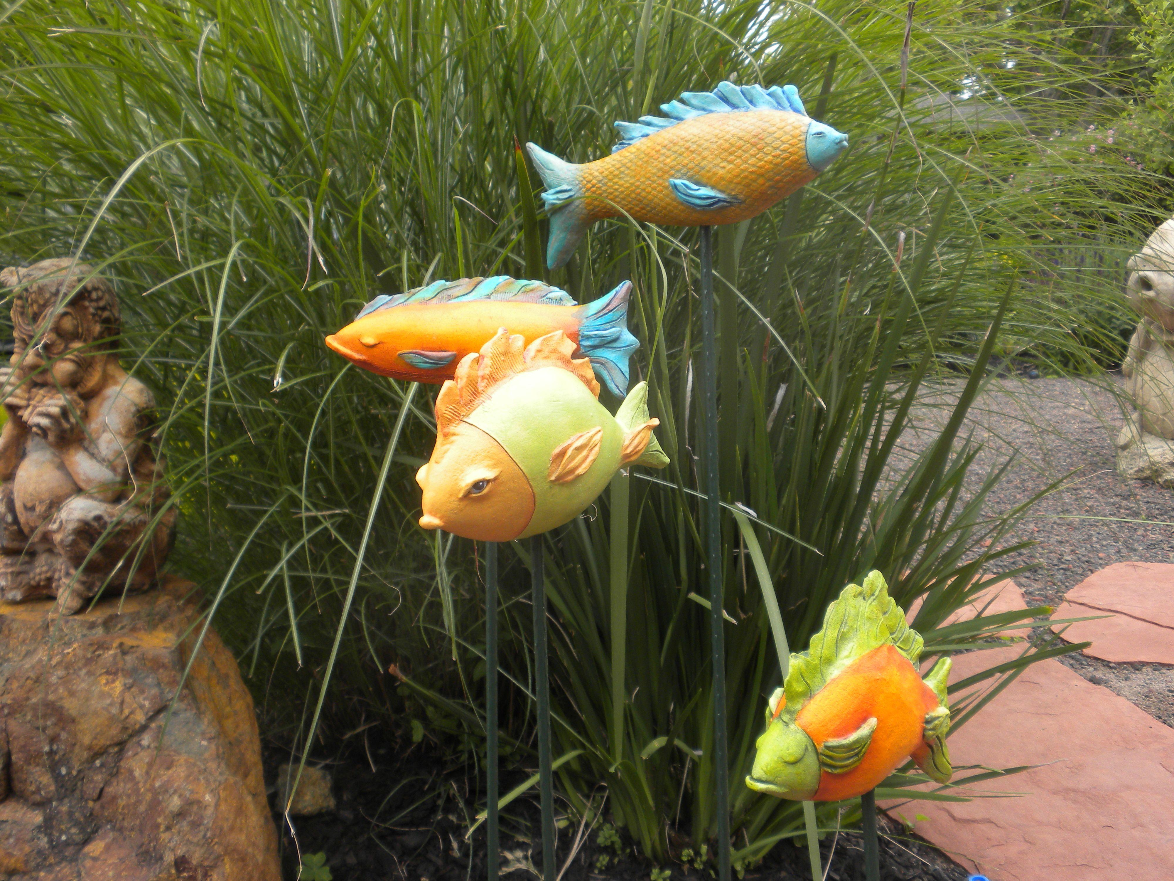 Garden Fish/ Ceramic Sculpture By LisaLeeSculpture.com Ceramic Fish,  Ceramic Animals, Clay