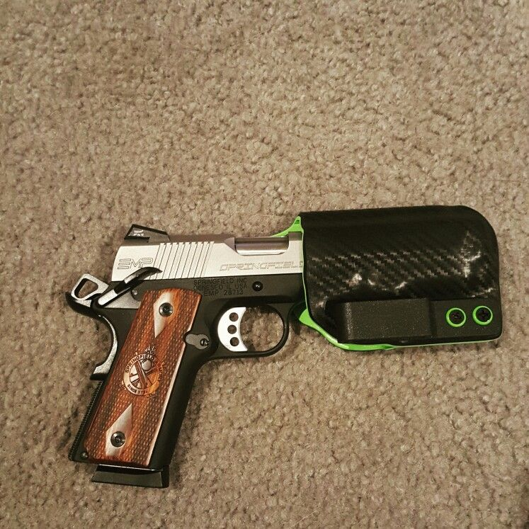 Springfield EMP 9mm with an Eclipse holster  One of my
