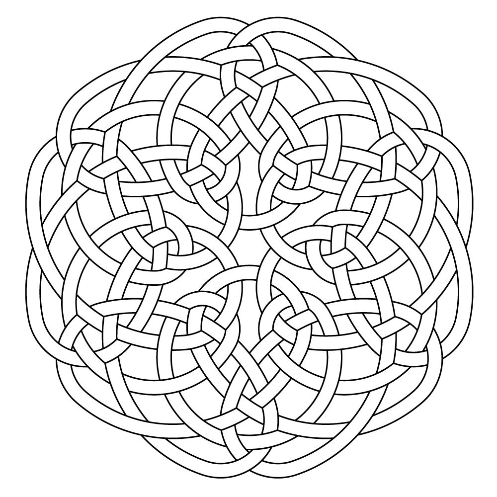 Celtic knot-work hexa by Peter Mulkers | Clases | Pinterest ...