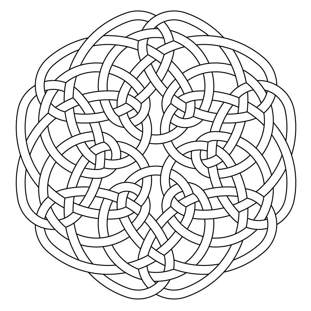 Celtic knot-work hexa by Peter Mulkers | Celtic Art | Pinterest ...