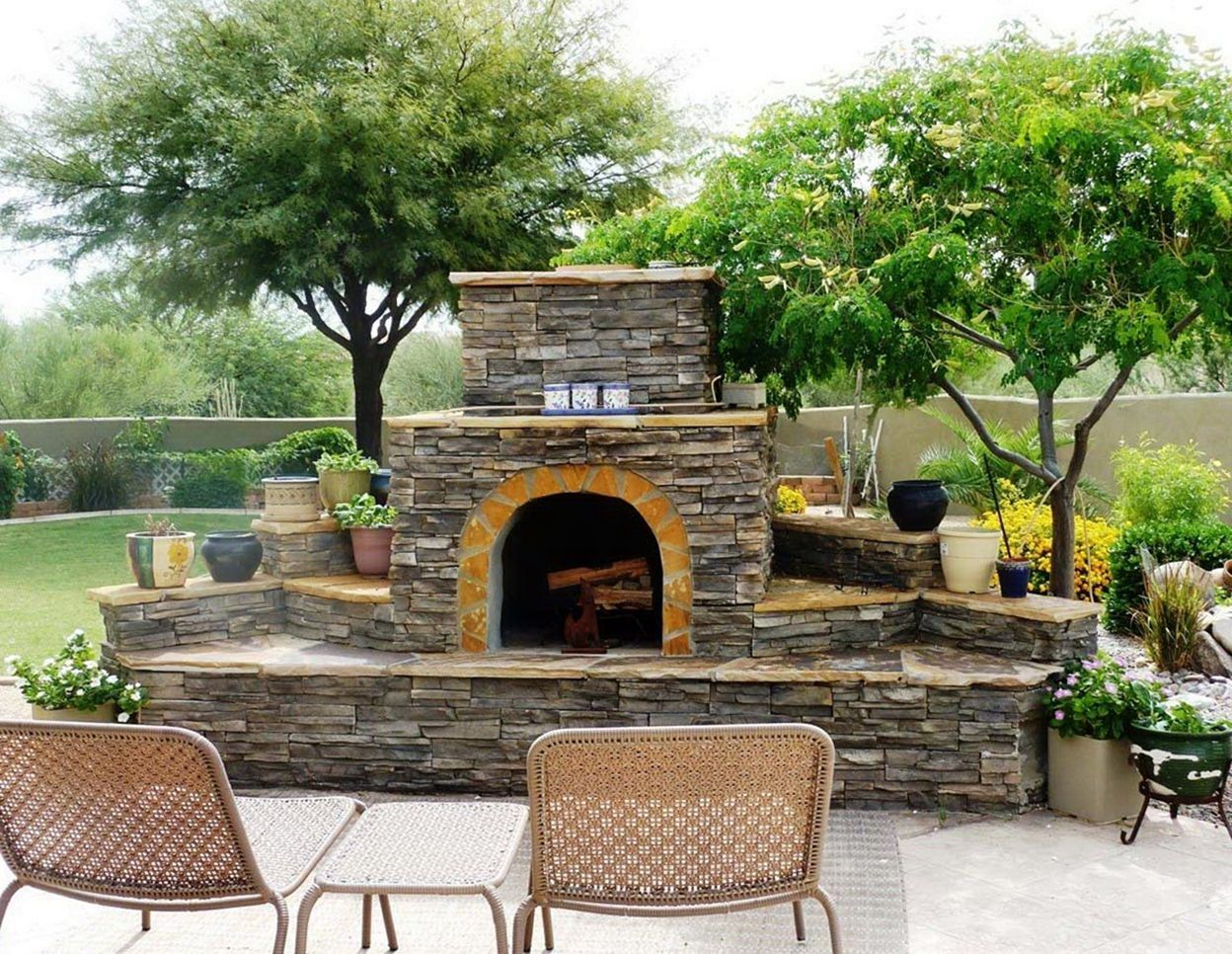 15 Amazing Outdoor Fireplace Design Ideas For Your ... on Amazing Outdoor Fireplaces  id=41877