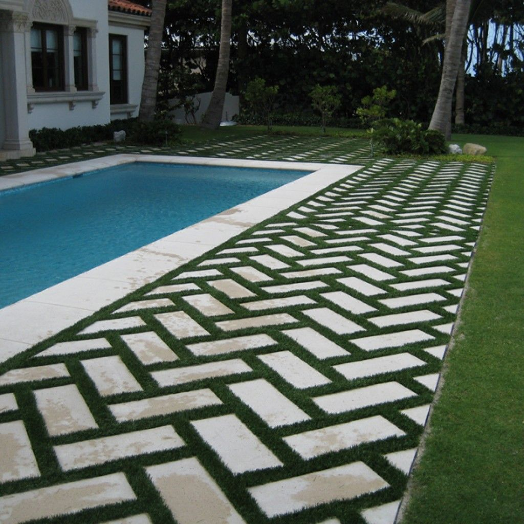 Image result for pavers and grass hardscape pinterest for Pinterest patio pavers
