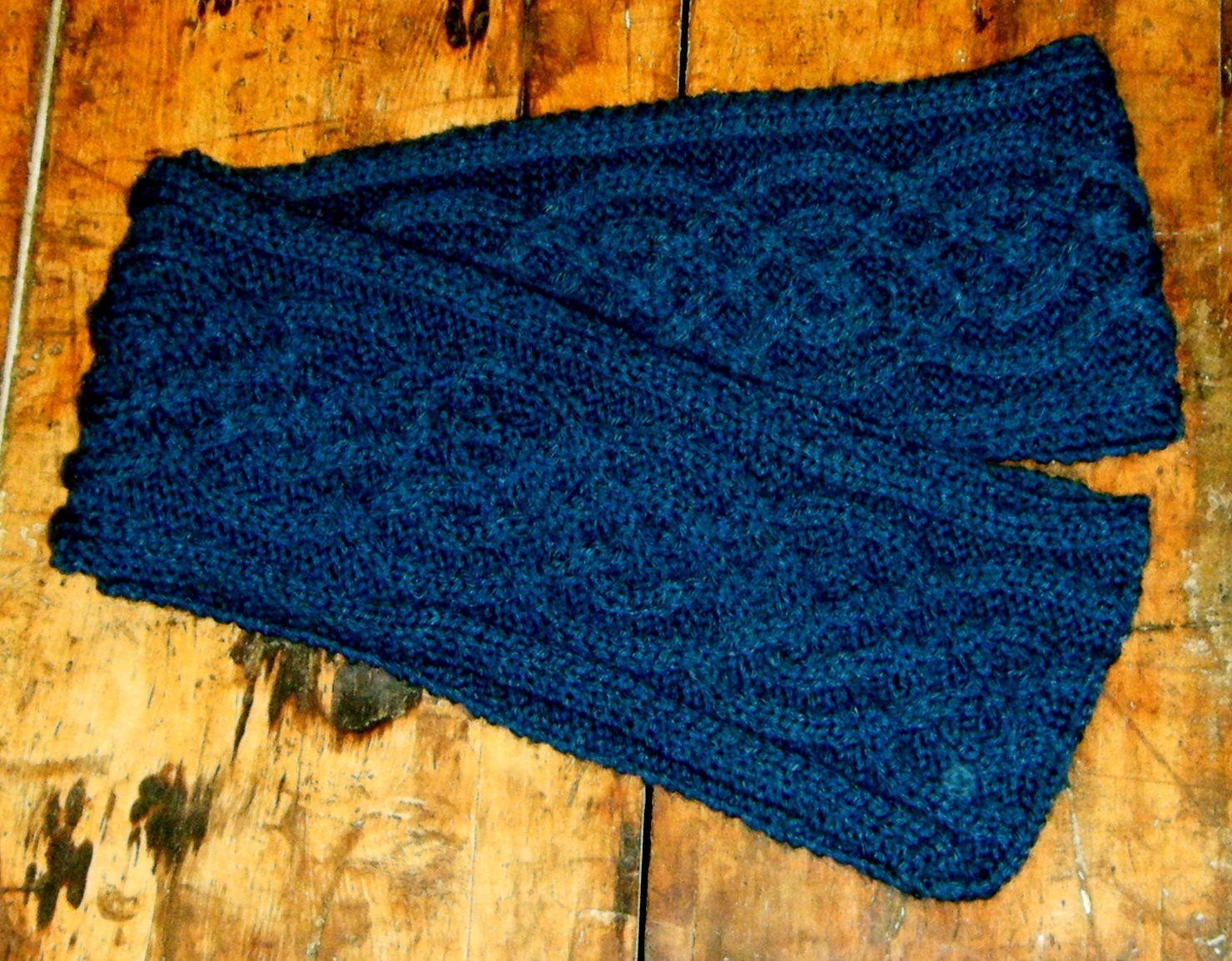 Deep Blue Celtic Knot Hand Knitted Scarf   Knitting & Crochet ...