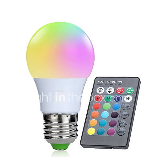 6 49 1pc 3 W Led Smart Bulbs 250 Lm E26 E27 10 Led Beads Smd 5050 Infrared Sensor Dimmable Remote Controlled Rgbw 85 265 V Rohs Fcc Led Smart Bulb Led Night Light Hue Lights